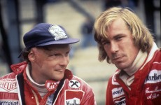Nikki Lauda & James Hunt, 1977.